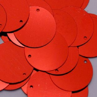 25mm Metallic Red Penny Sequins x 100